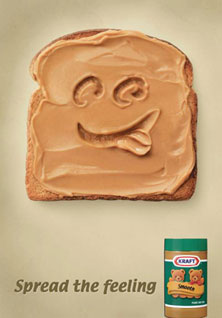 Kraft Peanutbutter Spread the feeling