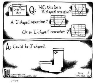 V vs U vs L vs J Recession