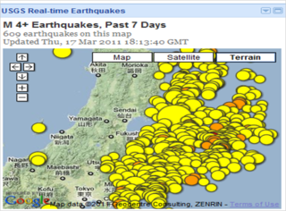 Japan earthquake aftershock